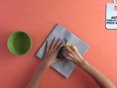 Cómo sacar una mancha de adhesivo vinilico.