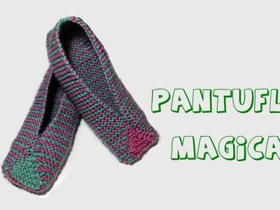 Cómo tejer pantuflas mágicas.