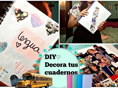 DIY- 3 formas de decorar tus cuadernos para el Regreso a Clases!! ♡