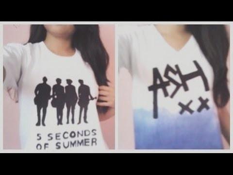 DIY: 5 Seconds Of Summer T-shirts