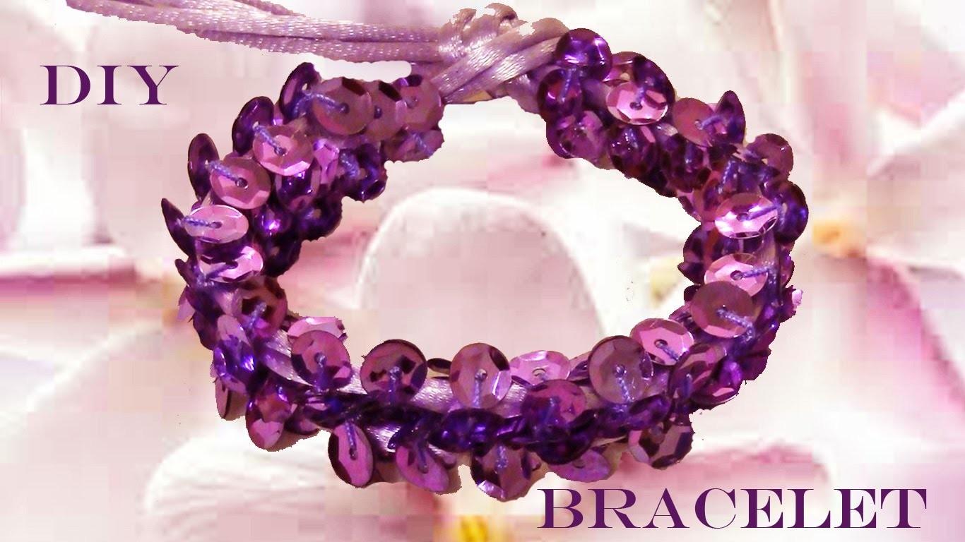 DIY beautiful bracelets bright purple - pulseras hermosas brillantes purpuras