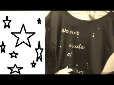 DIY: Camiseta de estrellas con lejía