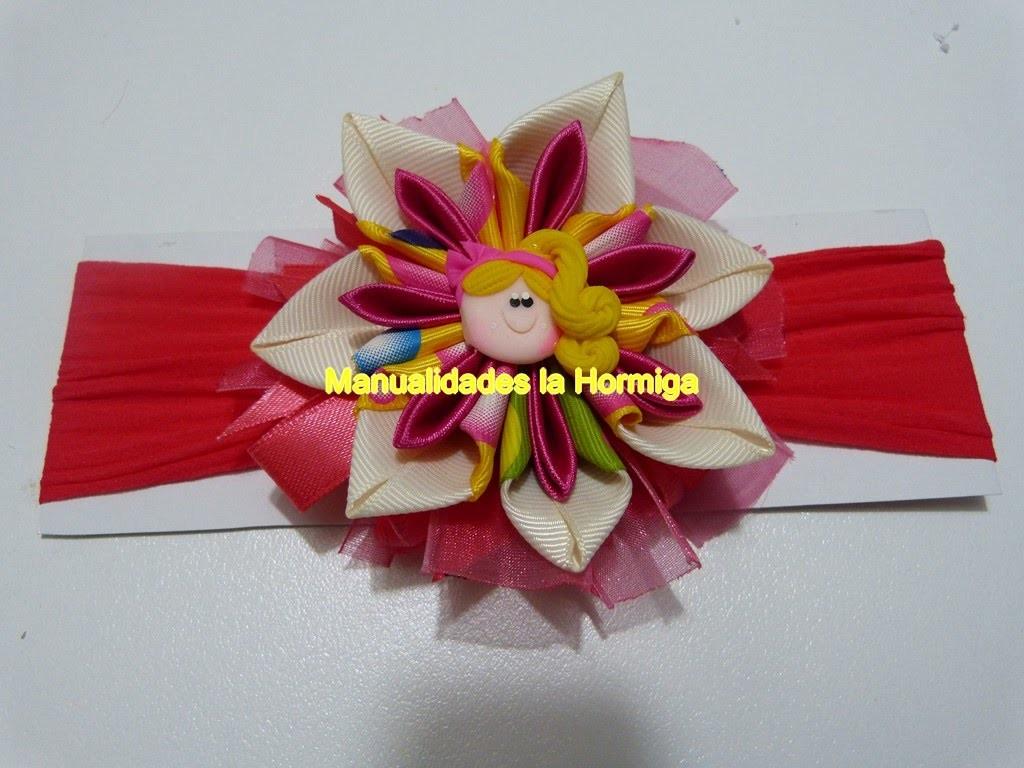 DIY. Como hacer flores dobles en cintas para  accesorios del cabello. double flower headband
