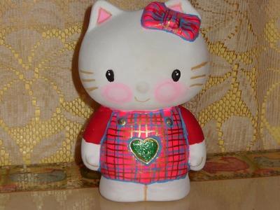 DIY Cómo pintar una Hello Kitty en cerámica