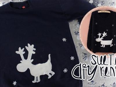 DIY: Sueter de Reno | Reindeer Sweater