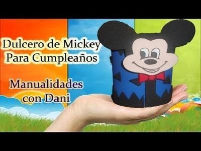 Dulcero de Mickey Mouse para Cumplaeños