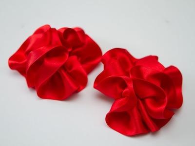 Flor de Cinta de Tela de Saten o Raso