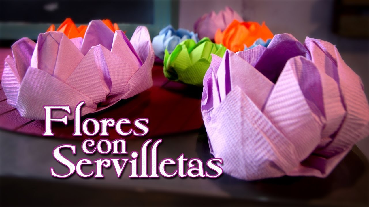 Flor de Loto en servilletas - Episodio 12: Crafting Studio