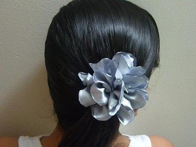 Flores fáciles en tela  para el cabello, decoracion de prendas de vestir