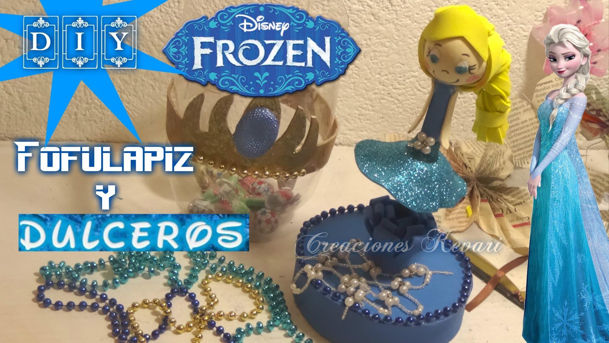 Fofucha fofuLapiz Dulcero Elsa Frozen   RecicladoBotella Plastica. Frozen's Elsa Candy Bag