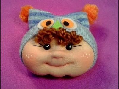 Gorrito de buho para muñeco bebe ,manualilolis ,video-24