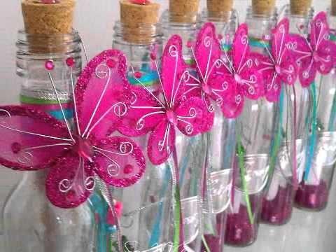 """Invitación en botella para quinceañera """"Ilusión"""""""