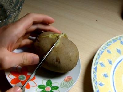 La forma mas rapida de pelar una patata cocida