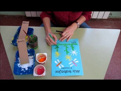 Pintar flores con témpera en Infantil: portada segundo trimestre