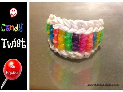 Rainbow Loom en ESPAñOL - Candy Twist -  Pulseras de Gomitas DIY