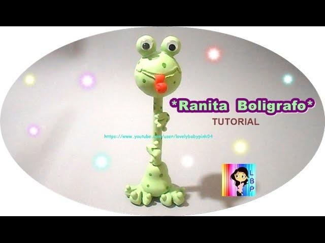 Ranita paso a paso (Boligrafo Decorado) porcelana fria - Tutorial cold pocelain Frogs