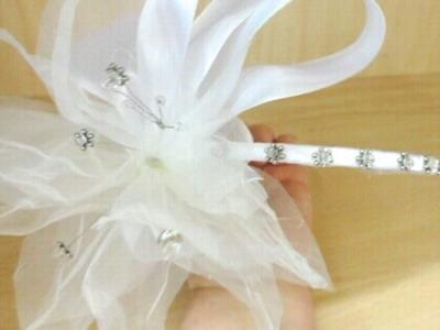 Tocado de novia con cristal de swarovshy
