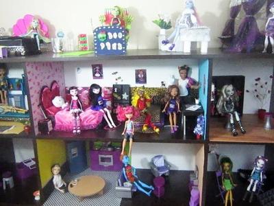 Tour de mi nueva casa de Muñecas Monster High  2014 + Enlaces para manualidades hasta ahora