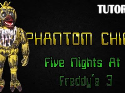 Tutorial Phantom Chica en Plastilina | FNaF 3 | Phantom Chica Clay Tutorial