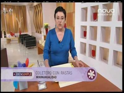 Utilísima Bien Simple, Nova, Coletero de rastas de fieltro, Marian San Martin