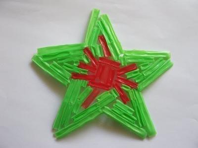Adorno de Navidad - Estrella navideña - Manualidades para todos