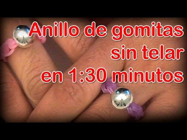 ANILLO DE GOMITAS EN 1:30 MIN - DIY - RUBBER BAND RIN IN 1:30