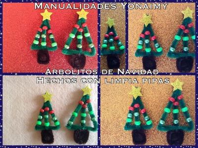 ARBOLITO DE NAVIDAD HECHO CON LIMPIA PIPAS .- PIPE CLEANER CHRITMAS TREE .