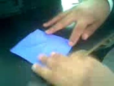 Caja triangular origami