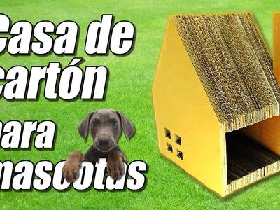 Casa juguete de cartón para mascotas, cómo se hace