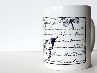 Cómo estampar en porcelana. Tutorial