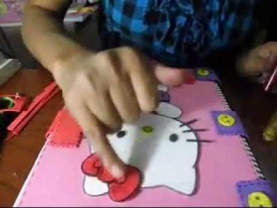 Como forrar un cuaderno con fomi paso a paso