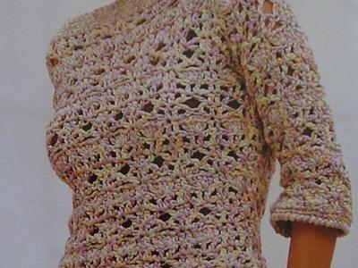 Como hacer Jersey calado a crochet