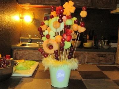 Como hacer un arreglo de frutas naturales