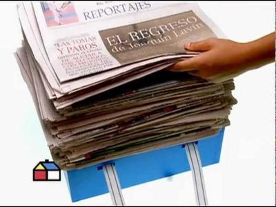 ¿Cómo hacer un asiento con diarios y revistas?