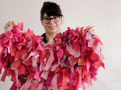 Cómo hacer un tapete con forma de corazón. Especial para San Valentin - Hablobajito