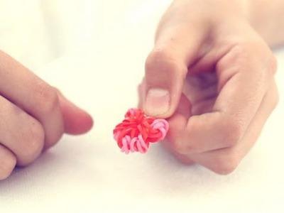 Cómo hacer una flor de gomitas. Rainbow Loom Flower.