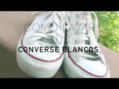 Como lavar converse blancos- PAUDUB