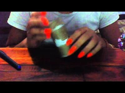 Como realizar un organizador de aros o aretes con CD