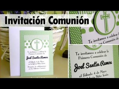 COMUNIÓN: Invitación niño - first communion invitation