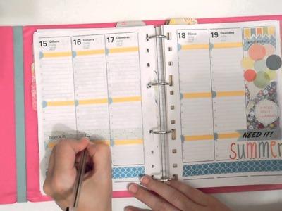 Decora tu agenda conmigo. Semana del  15 al 21 de  junio. Planner decoration