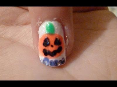 Decora tus uñas Calabaza Dia de Muertos Halloween