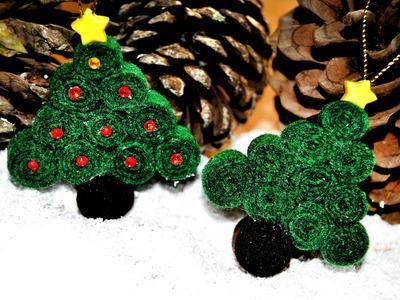 DIY : Arbolitos De Fieltro Para Navidad - Brotes De Creatividad