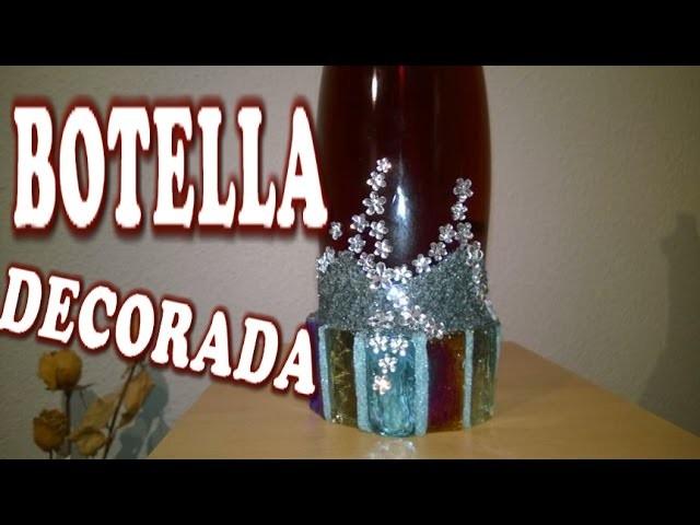 DIY BOTELLA DECORADA - DECORATED BOTTLE