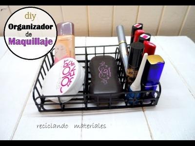 Diy organizador de maquillaje reciclando makeup organizer