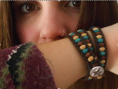 DIY ** Pulsera de tres niveles ** Bracelet with three levels