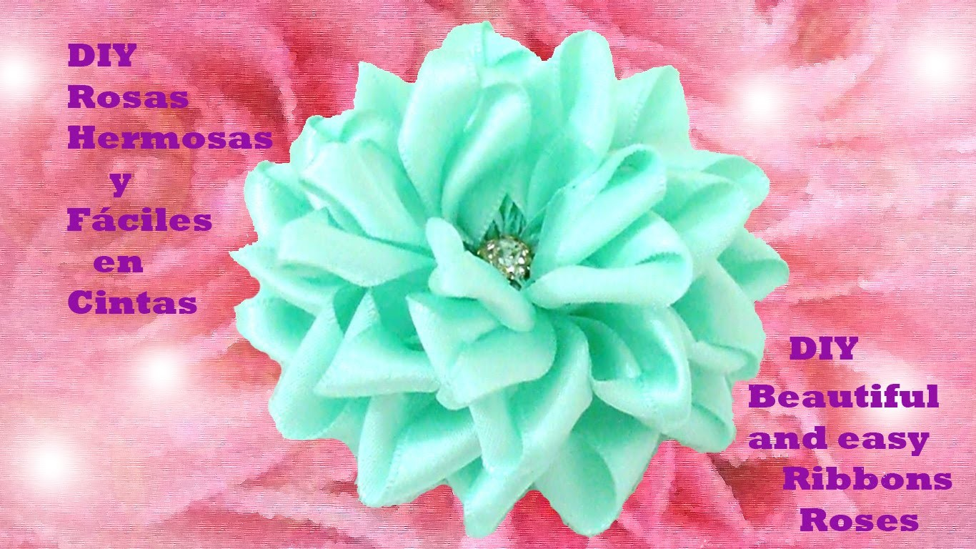 DIY rosas hermosas y fáciles  beautiful and easy ribbons roses