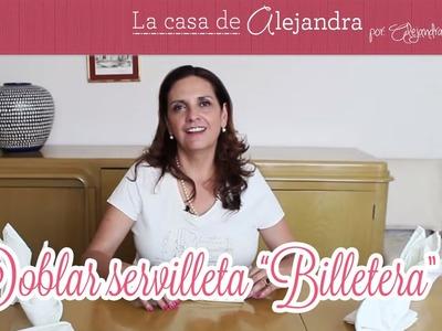 """Doblar servilleta """"Billetera"""" - DIY Fol """"wallet"""" napkin"""
