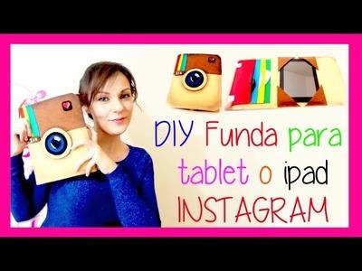 Funda protectora tablet o ipad con logo de instagram de fieltro o paño lenci, manualidades faciles