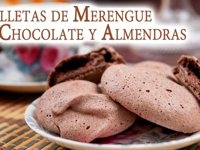 Galletas de Merengue de Chocolate y Almendras sin Gluten ni Grasa