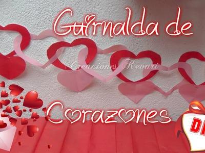 Guirnalda de Corazones entrelazados de Papel.Hearts Garland
